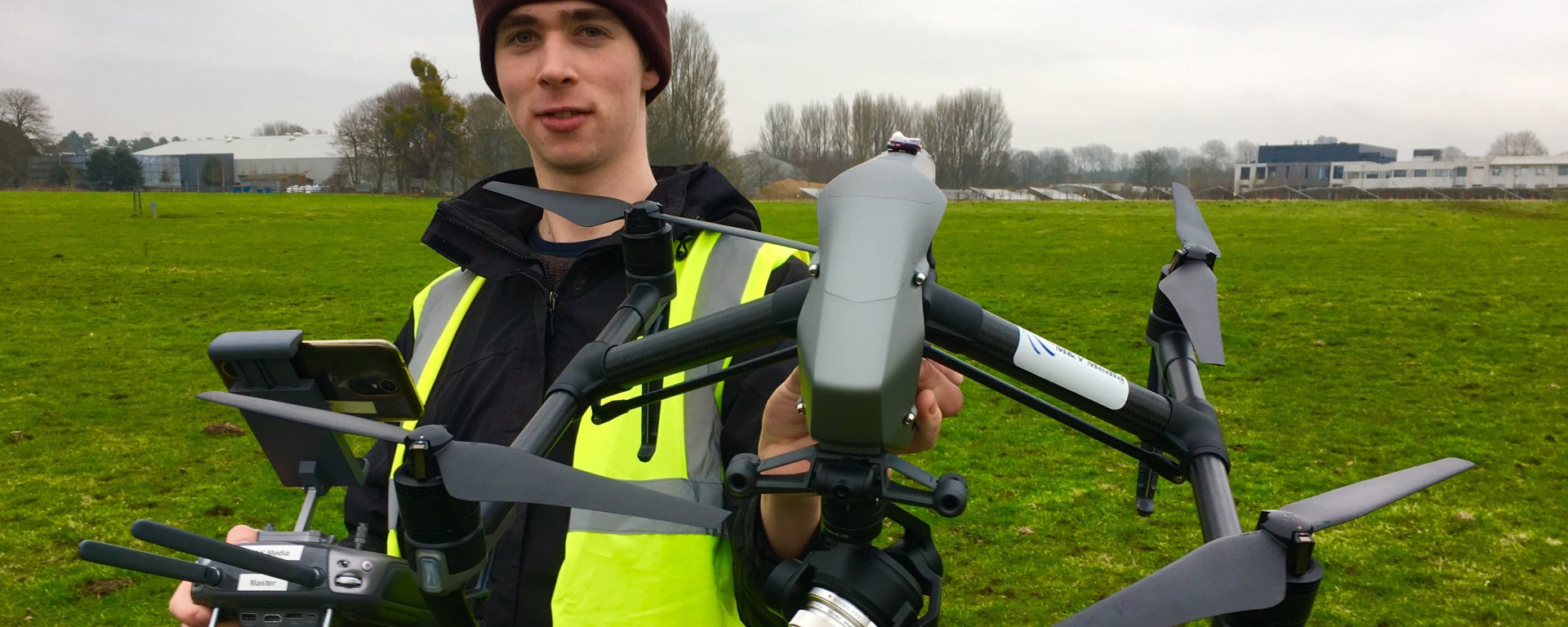 Greg Holmes joins our CAA Certified Drone Crew
