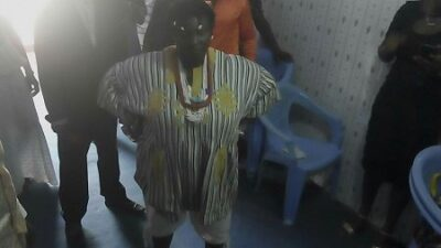 wp 1461143438298 - Drama As Juju Woman Appears In Church With Charms And Amulets Around Her Neck (Photo)
