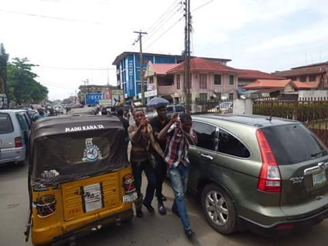 76abd-fb_img_1476165961226-793900 Onitsha Market Jubilates As Security Agents Nab Hoodlums Who Extort Money From Traders (Photos)