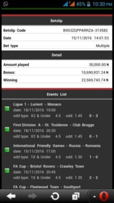 img 20161120 wa0006 - ​Many Won Recently, BET9JA BETTING CODES, Today 26th Nov 2016 Sure Games