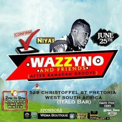 fb img 14982265100148702 - Opa6, Bolo J, Niyas To Perform At Wazzyno's First Show In South Africa