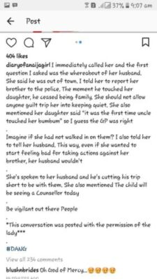 drebp1ywkaajtxl - Lady Narrates Story Of How She Caught Her Brother Sexually Abusing Her Daughter (Pics)