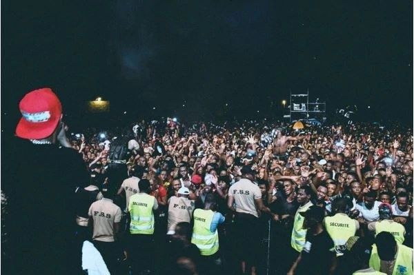 wizkid cameroon 1 - VIDEO: Wizkid Stops Performance To Address An Assault On A Female Fan
