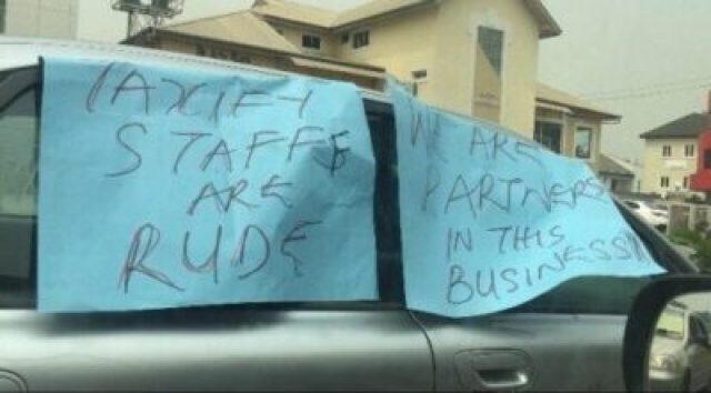 img_7426 Taxify Drivers Protest In Lagos (Photos)