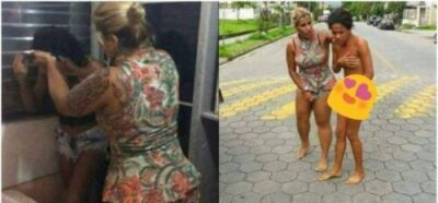 lady caught cheating3 - Lady Catches Another Lady Sleeping With Her Boyfriend, Parades Her Naked (Pics)
