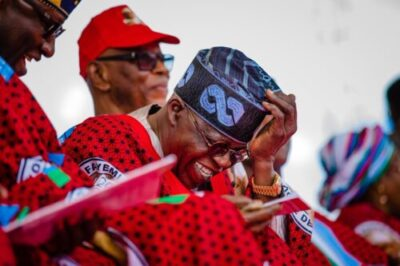 dgfxngaw4aywu2v - Caption This Photo Of Oyegun And Tinubu At Fayemi's Governorship Campaign
