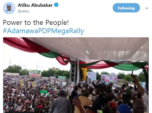 screenshot_21 See The Mammoth Crowd That Welcomed Atiku's Today In Adamawa (Video)