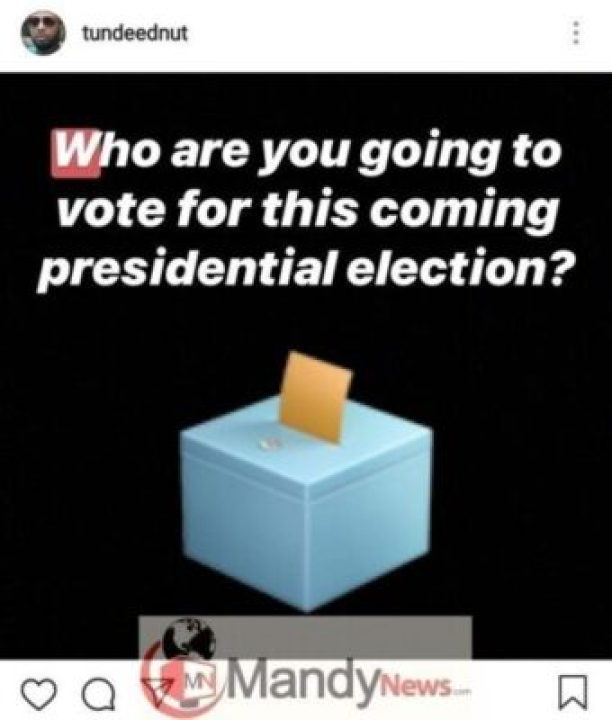 8473809_screenshot20190110234714instagram_jpeg6d02c22f7d616bd3d6994fab2d92de471378466616 Presidential Election: Sowore Tops Poll Conducted By Tunde Ednut Via Post