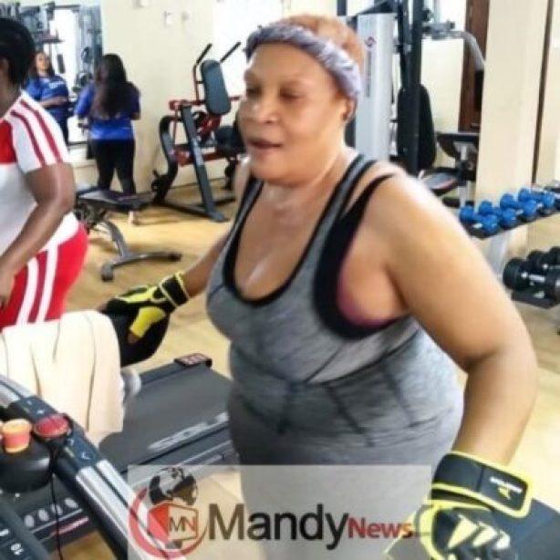 55-Year-Old Veteran Actress, Ngozi Nwosu, Hits The Gym