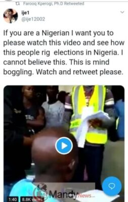 "8509255_img20190116wa0008_jpeg55ce02bc622194cbcd8b33b2d39868ce1647111643 ""If You Are A Nigerian, Please Watch This & See How They Rig Election"" - Lady"