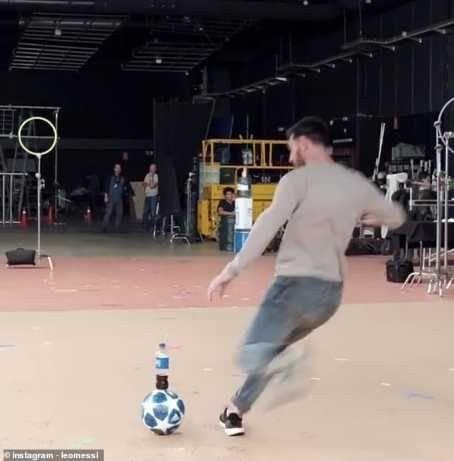 8715824 20190209074300 jpegdb227dbad00e325b217ae82c91a5f7571466056666 - Lionel Messi Produces Amazing Bottle Flip In New Pepsi Advert (Photos, Video)