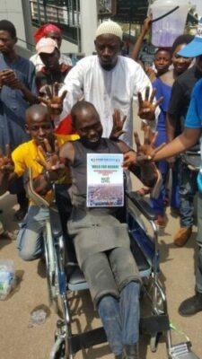 8719665 dy9x02rxcaac0lu jpeg601b589b1f0de15739cd8c512724d7f71556278252 - Dolapo Osinbajo Gifts A Crippled Man A Wheelchair At #WalkForBuhari (Photos)