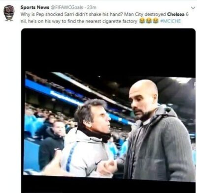8728430 capture4 jpegd31796f37d67fed9324bf04b60e46a691176028096 - Chelsea Coach Refuses To Shake Man City's Guardiola After Embarrassing 6-0 Loss