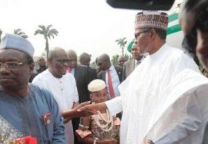 8744485_buhariandwike_jpeg53200d2f2286d70b8ee661aeea5e14ef-300x208 Governor Wike Receives President Buhari In Port Harcourt (Photos)