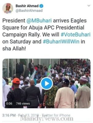 8757762 screenshot20190213154348 jpegfb1ab1d024d9a0cd74af8298e42f42921990947364 - Buhari Arrived Eagles Square Abuja To Flag Off Presidential Campaign