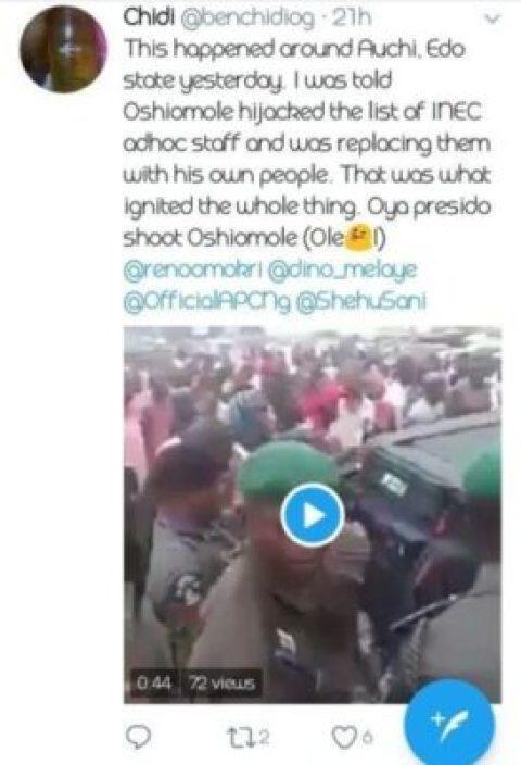 8818241_20190220135027_jpegec8023e4e7d5c23b0f024d6cb29807d7 Adams Oshiohmole Accused Of Hijacking INEC Adhoc List In Auchi, Edo State