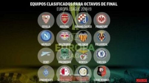 Europa League Last 16 Draw, See Full List