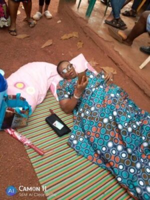 8845389 img20190223122507 jpegb95d8880bc447caebd9c8e52dd2001f0 - Nigeria Decides: Woman Brought Mat And Pillow To Polling Unit, Davido Reacts