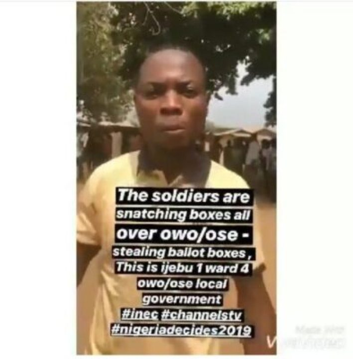 8847181_screenshot201902231600042_jpegb2c17ec758384ef7a60c32c77c430529 Soldiers Accused Of Snatching Ballot Boxes And Replacing Them With Printed Papers