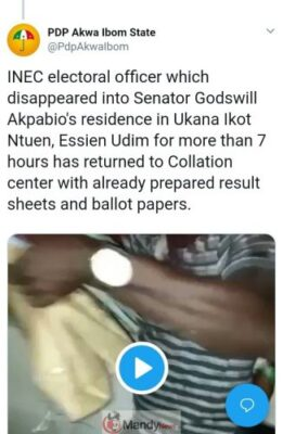 8851723 img20190224083926875 jpeg47a7dd0a60804b762bae6b9fdefcc9c8 667x1024 - INEC Electoral Officer Related To Akpabio Caught With Results And Ballot Papers