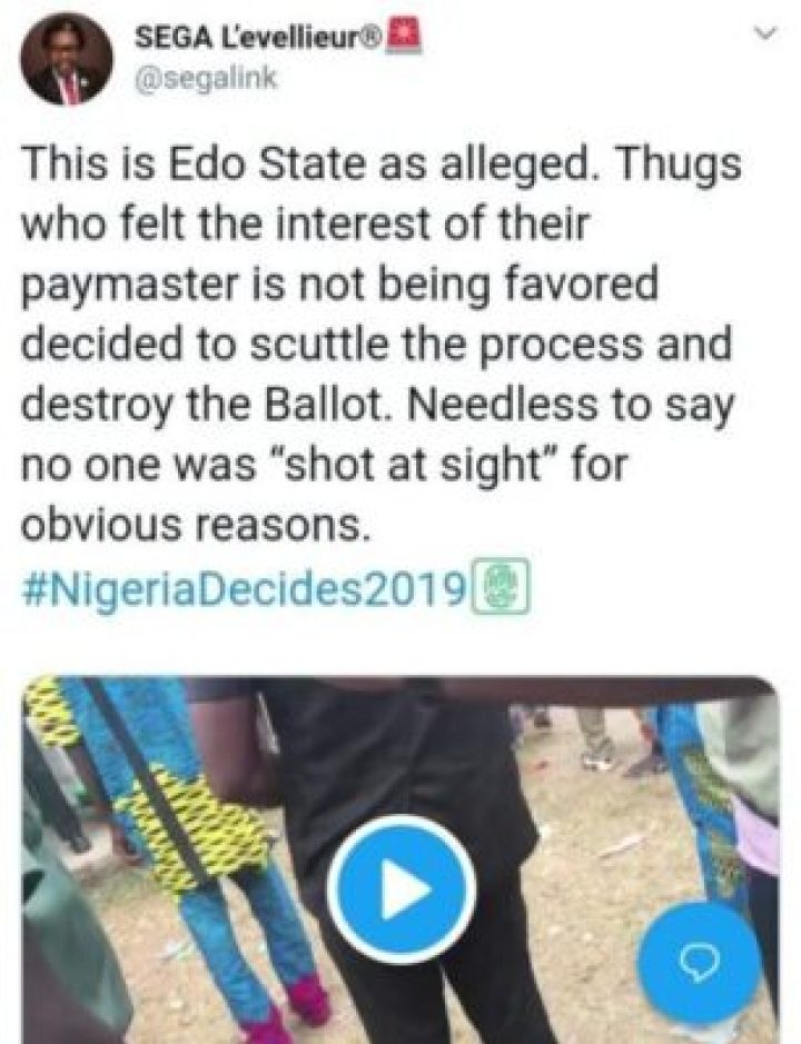 8855058_img20190224190349853_jpega6185bdad3af3d95f98e5f5822b23686 Thugs Attack INEC Collation Center In Edo, Destroy Election Materials (Photos)
