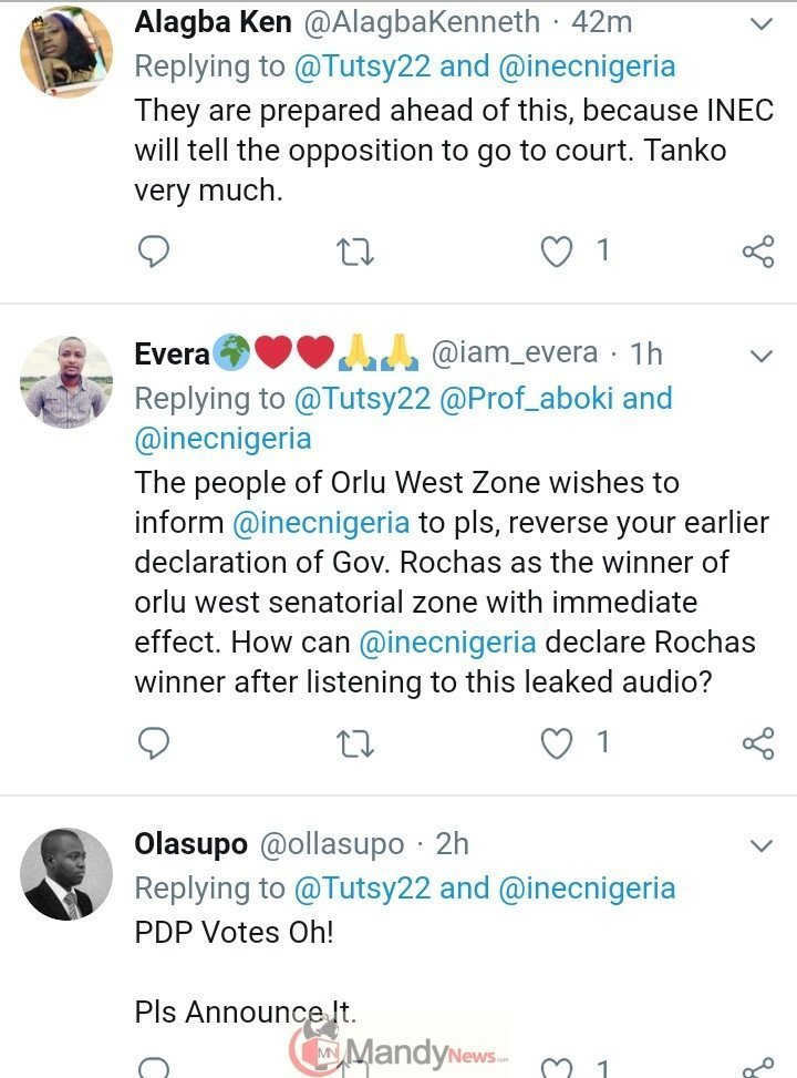 """8863307 img20190225201504396 jpeg4e67a197e19ca1ddfcf1af1414dbbe09 - Leaked Audio: """"I'm Calling This Result Under Duress"""" - Prof. Declares Okorocha Winner"""