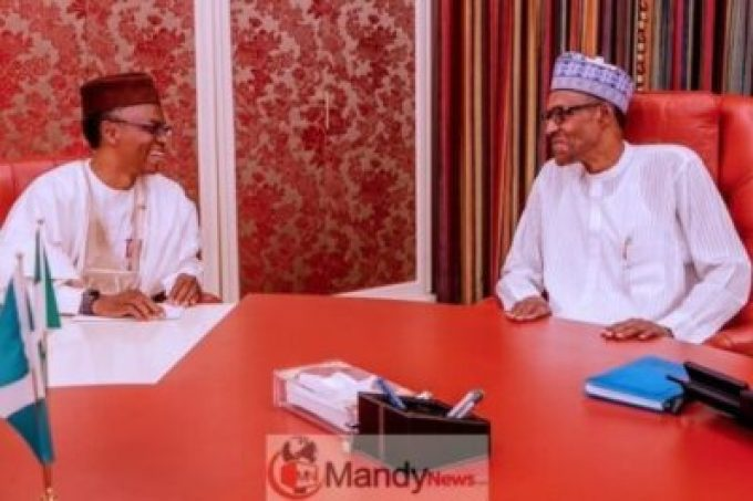 D0V2thtUwAE4pEe President Buhari Receives Briefing From El-Rufai At State House (Photo)