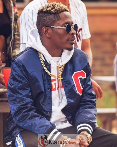 SHATTA WALE - Shatta Wale Tattoos His Son's Name, 'Majesty' On His Neck