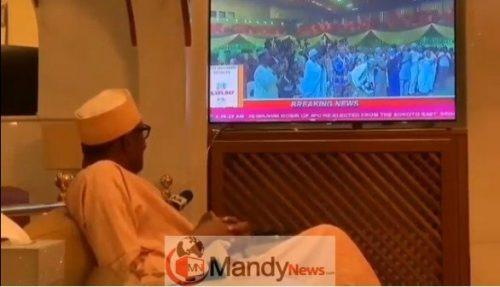 Screenshot_8 See Buhari's Reaction When He Was Announced Winner (video)