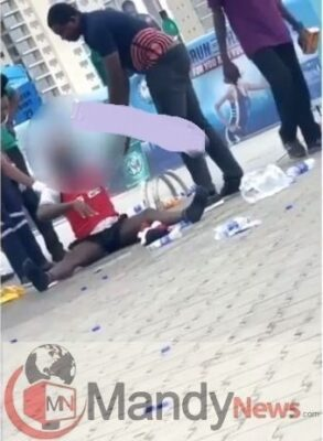 dude mad179238574. - Shock As Participant Runs Mad In Broad Daylight At The 2019 Lagos City Marathon (Video)