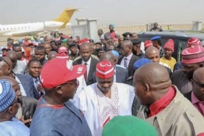 dzcibw7woaaqsrf546110990 - Atiku Arrives In Kano For Campaign Rally (photos)