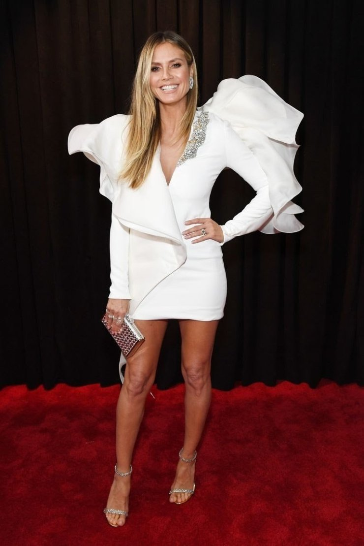 heidi-klum-attends-the-61st-annual-grammy-awards-at-staples-news-photo-1097522238-15498442731237460824 All Grammys 2019 Red Carpet Celebrity Dresses & Looks (Photos)