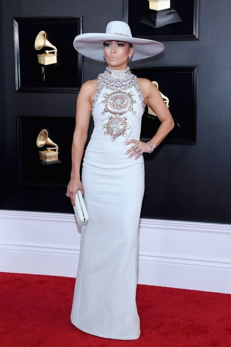 jennifer-lopez-attends-the-61st-annual-grammy-awards-at-news-photo-1097530226-1549847034343450466 All Grammys 2019 Red Carpet Celebrity Dresses & Looks (Photos)