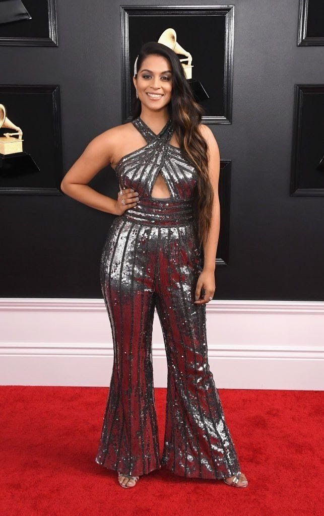 lilly-singh-attends-the-61st-annual-grammy-awards-at-news-photo-1097502372-1549841154424878202 All Grammys 2019 Red Carpet Celebrity Dresses & Looks (Photos)