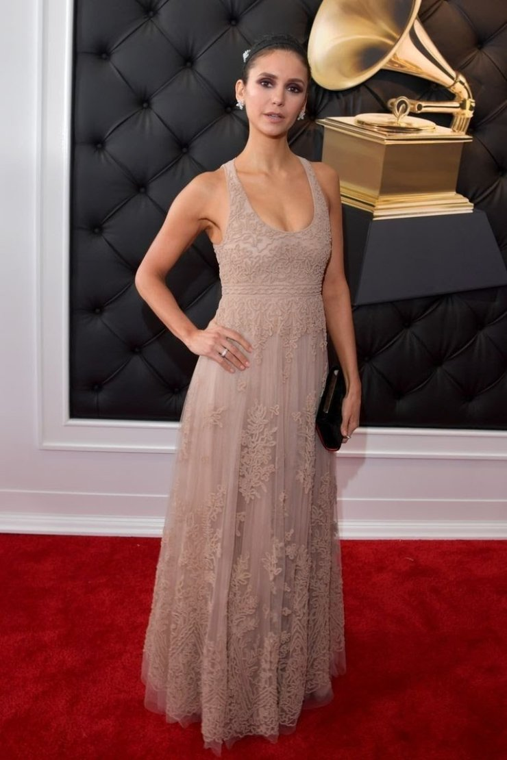 nina-dobrev-attends-the-61st-annual-grammy-awards-at-news-photo-1097521932-1549844105337753931 All Grammys 2019 Red Carpet Celebrity Dresses & Looks (Photos)