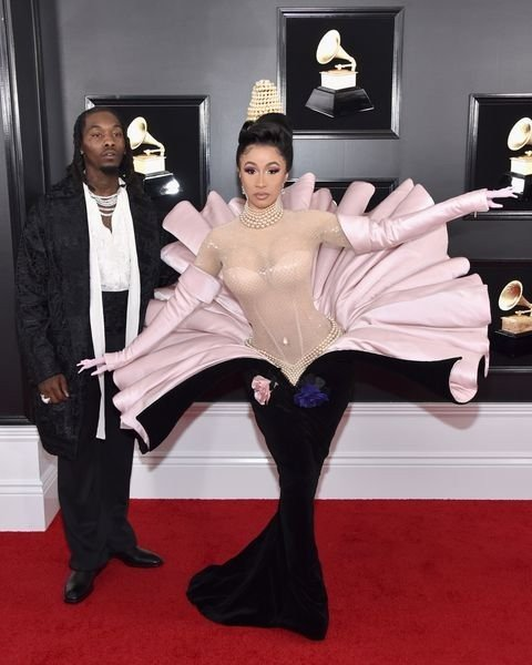 offset-of-migos-and-cardi-b-attend-the-61st-annual-grammy-news-photo-1097526730-15498472471794780272 All Grammys 2019 Red Carpet Celebrity Dresses & Looks (Photos)