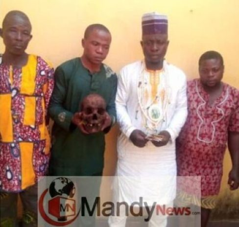 skull-miniing Islamic Cleric, Three Others Arrested With Human Skull In Ogun State