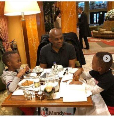 8907274 screenshot201903021351201551531517384 jpege48b7a341af6ae15d2e463c37fa67b83 - Tony Elumelu Having Breakfast With His Twin Boys (Photos)