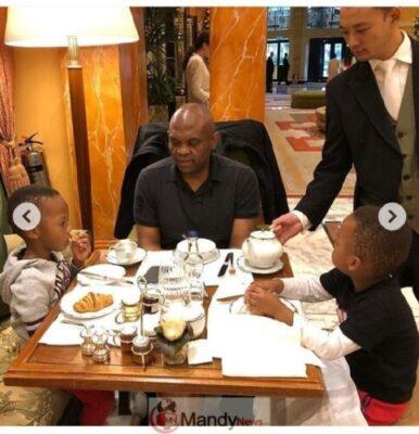 8907276 screenshot201903021351351551531475065 jpegbc7403f518c17bb5f2f37bd4d716f556 - Tony Elumelu Having Breakfast With His Twin Boys (Photos)