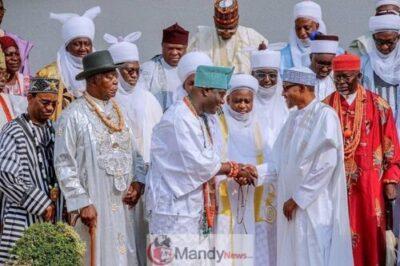 8926911 52522916318874972100933716816719358167315n jpegdf687526a37e0a525ab2c54b6094b108 - President Buhari Receives A Congratulatory Visit From Traditional Rulers (Pics)