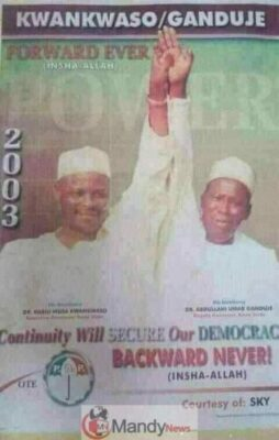 9044386 fbimg1553444536177 jpegb0d5d68d02b7d65123af82a64562d7ef - Throwback Photograph Of Kwankwaso And Ganduje In 1999 And 2003