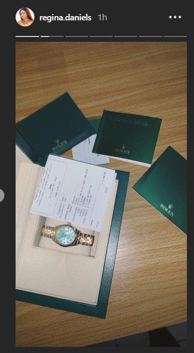 9060152_ghg_jpeg8be970fcd65c4956a81513196456f2d2 Regina Daniels Reveals Off Her Newly Acquired N3.3M Rolex Watch