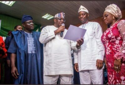 9066887 screenshot20190327184503 jpeg68f8b03d4be80c04e1706df1468c9ceb - INEC Presents Certificates Of Return To Oyo Governor, Seyi Makinde (Pictures)