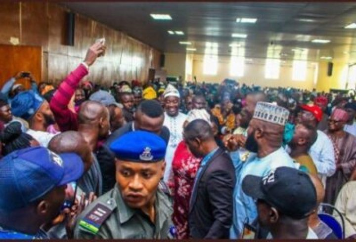 9066889_screenshot20190327184531_jpegf43c192b8583c695953e7bc9411bc8e6 INEC Presents Certificates Of Return To Oyo Governor, Seyi Makinde (Pictures)