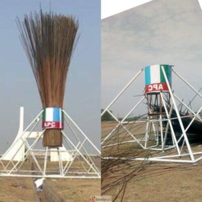 InShot 20190314 202717831 - APC Giant Broom Abuja: Before And Now (Photos)