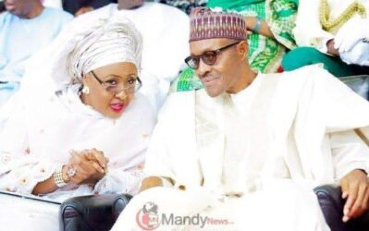 """President Muhammadu Buhari and his wife Aisha 750x470 - """"I Wish My Husband's Cabinet Will Have 41.6% Women"""" - Aisha Buhari (Video)"""