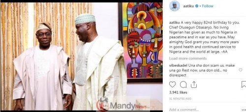 Screenshot 4 - Atiku Abubakar's Wish Obasanjo A Happy 82 Birthday