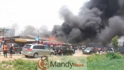 Surulere Fire New - Fire Breaks Out In Surulere (Video, Photo)