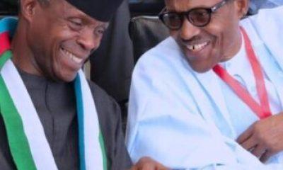 Vice President Yemi Osinbajo and President Muhammadu Buhari at APC National convention - President Buhari's 2019 Christmas Message To Nigerians