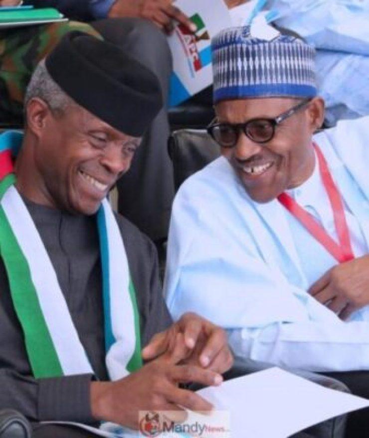 Vice-President-Yemi-Osinbajo-and-President-Muhammadu-Buhari-at-APC-National-convention Buhari Poorer Than In 2015 - Osinbajo